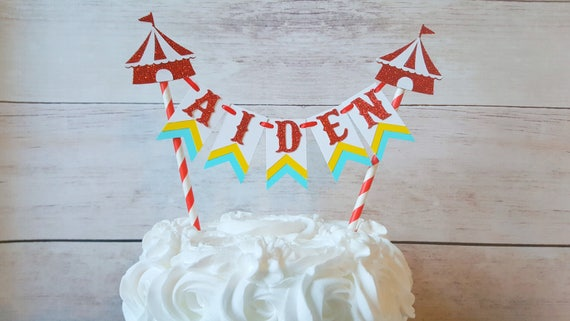 ORIGINAL Circus Cake Topper Bunting Baby Shower