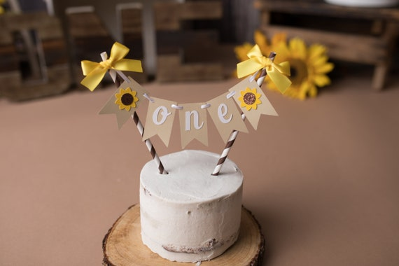 Fabulous Sunflower Cake Topper Sunflower Party Decorations Sunflower Funny Birthday Cards Online Necthendildamsfinfo