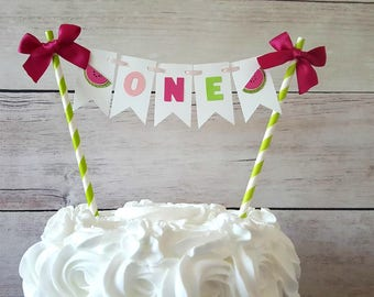 One in A Melon Cake Topper, One In a Melon Party Decorations, Watermelon First Birthday, Watermelon Party Decorations, Watermelon Smash Cake