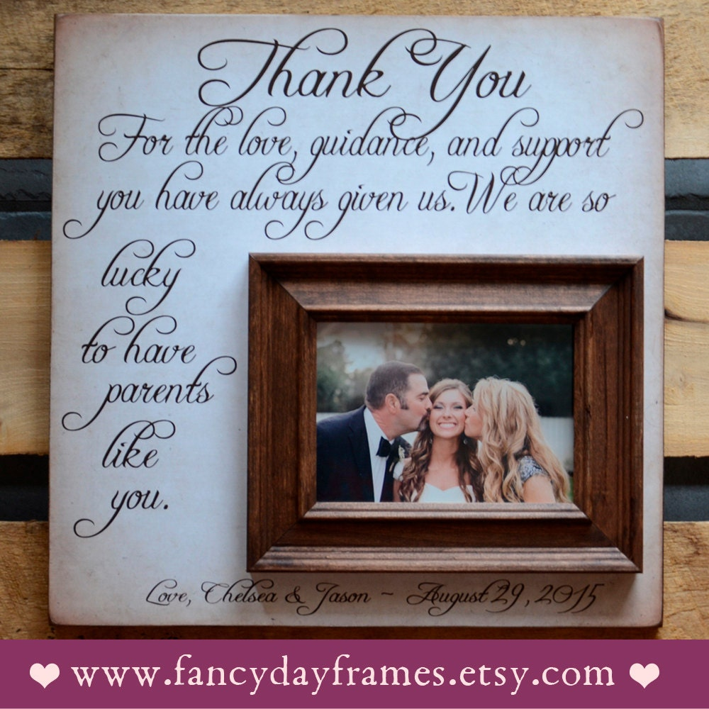 Parents Wedding Gift Thank You Gift For Parents Wedding Gift Etsy