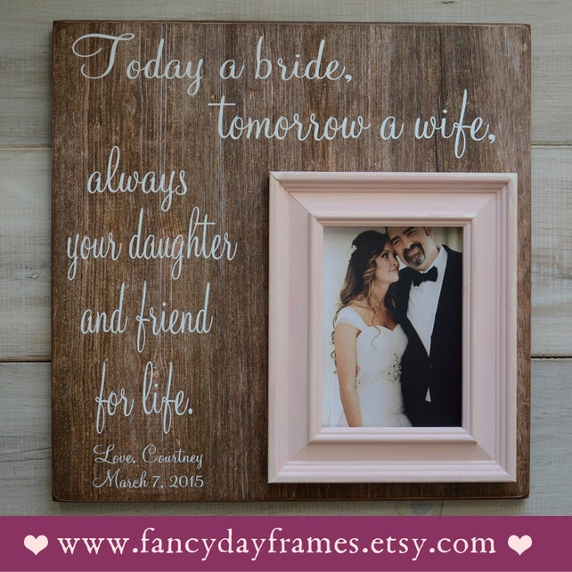 Father Of The Bride Frame Father Of The Bride Gift Wedding
