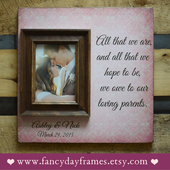 Mother Of The Bride Gift Parents Thank You Gift Wedding Gift Etsy