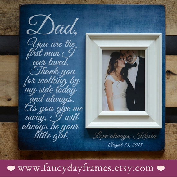 Father Of The Bride Frame Father Of The Bride Gift Wedding Etsy