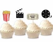 Movie Time - Cupcake Topp...