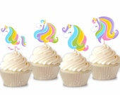 Rainbow Unicorn - Cupcake...