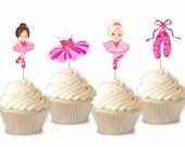 Ballerina - Cupcake Toppe...