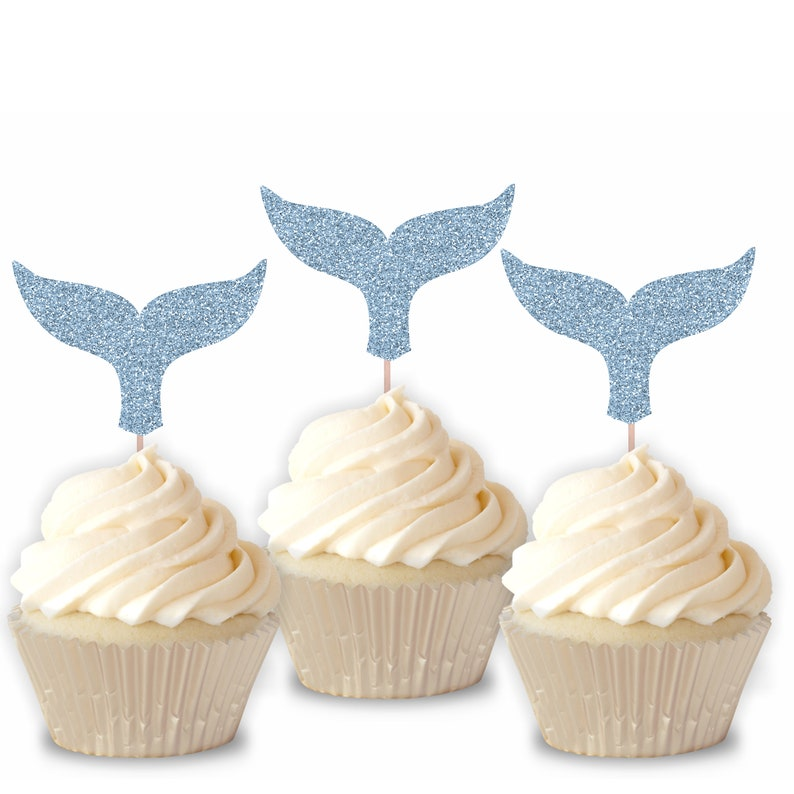 Sea Life Party Decor Ocean Animals Party Whale Tail Cupcake Toppers Whale Baby Shower Under The Sea Party Decor Whale Birthday Party
