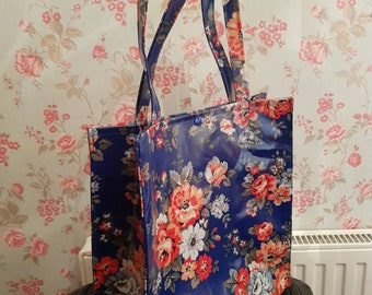 9eba664d9f Book tote bag made in floral Cath Kidston oilcloth