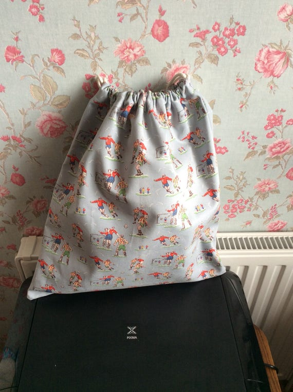 footballer pump bag in cath kidston fabric etsy. Black Bedroom Furniture Sets. Home Design Ideas