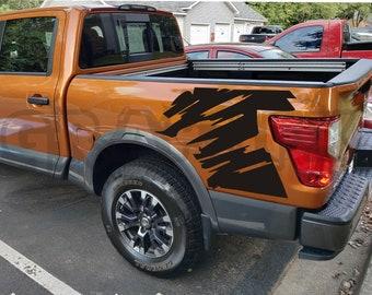 Front Grille Insert Vinyl Decal Fits Nissan 2016-2018 Titan Gloss Carbon Fiber