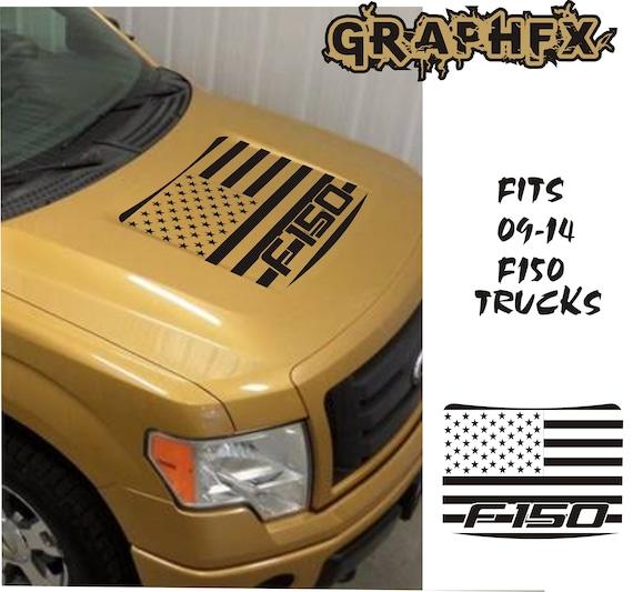 Ford F150 F-150 Blackout Vinyl Hood Decal Sticker 2009 2010 2011 2012 2013 2014