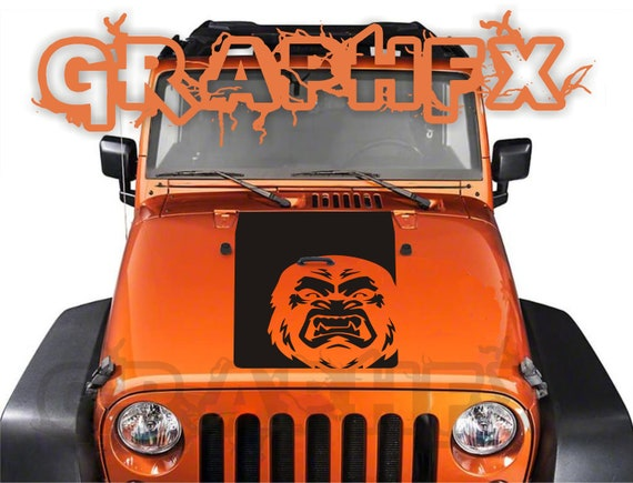 Blackout outlined vinyl hood decal for jeep Renegade 2015 2016 2017 2018 Graphic