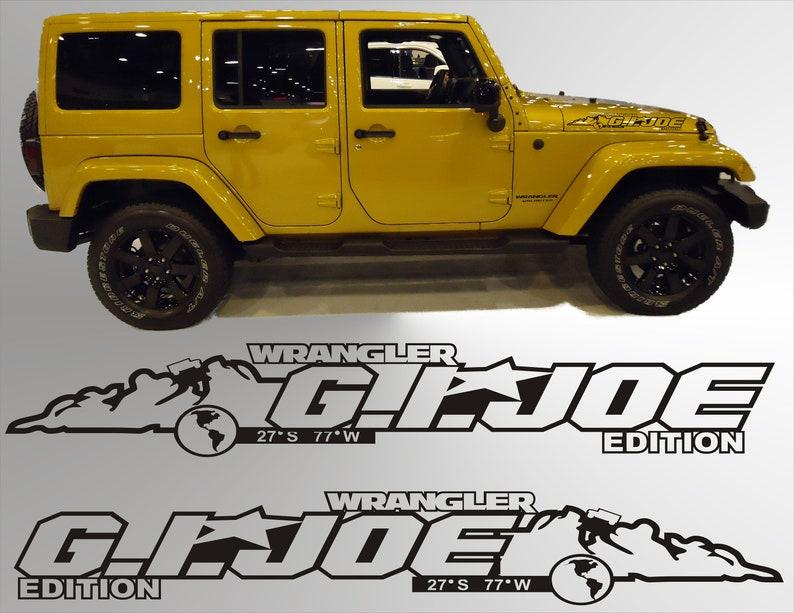 [DIAGRAM_38YU]  Pair Fender GI JOE vinyl hood decals jeep Wrangler Jk jku Lj | Etsy | 2006 Jeep Wrangler Hood |  | Etsy