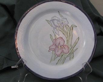 Botanical Series Handpainted Iris Dinner Plate (Set of 4)