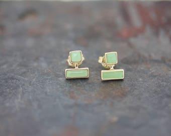 Gemstone stud earrings