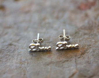 Sterling Silver Love Post Earring