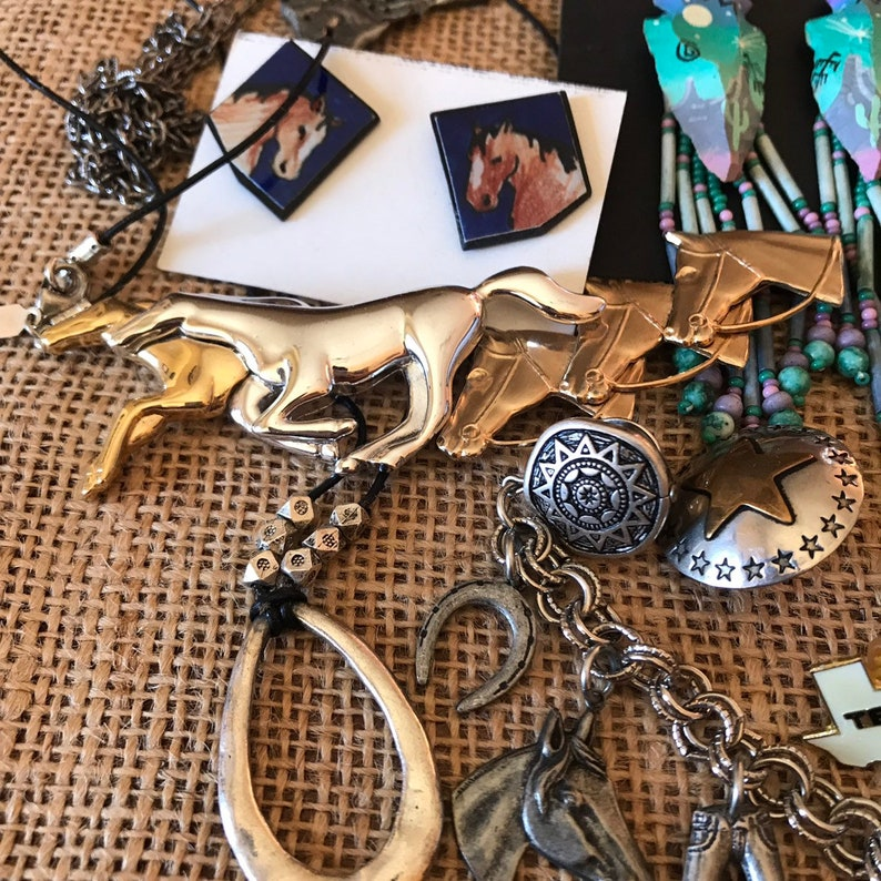 Horse Jewelry Lot Horse lovers vintage jewelry lot