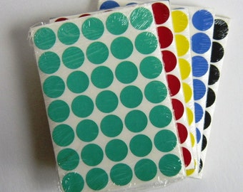 colored dot stickers library supply