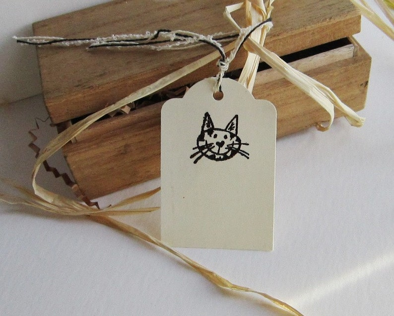set of 10 handmade gift cards of former library catalog cards