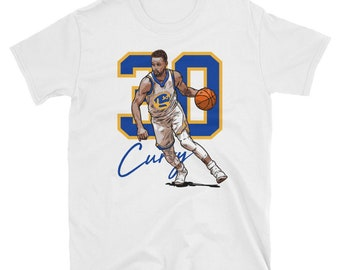 39d1c779387 Steph Curry Illustration Short-Sleeve T-Shirt Golden State Basketball