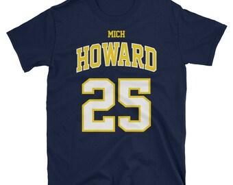 86bcde28 Juwan Howard, Michigan basketball Throwback T-Shirt