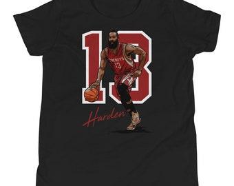 the latest 2d017 c7709 James Harden Houston Basketball Short-Sleeve T-Shirt | Etsy