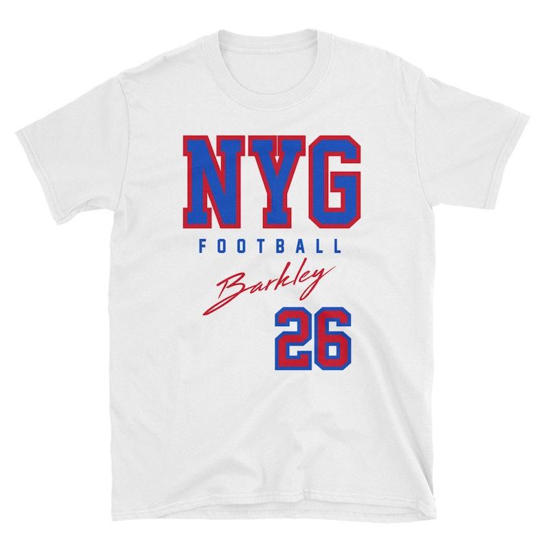 York Football Shirt Barkley Saquon New Giant Shirt