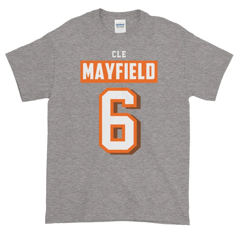 san francisco 28abe 551a3 Baker Mayfield Shirt, Cleveland Football, Mayfield Jersey T-Shirt