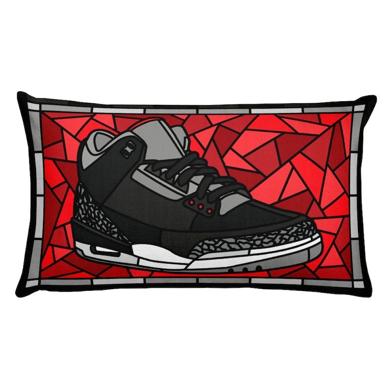 a5e580a5e4c8 Jordan 3 Black Cement Air Jordan Sneaker Head Pillow