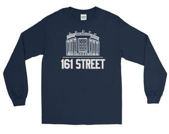 NYC, Baseball, New York Baseball Shirt, Bronx, 161 Street, Long Sleeve T-Shirt