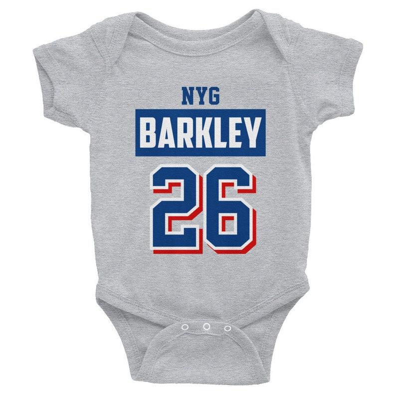 quality design c9e79 6f931 Saquon Barkley Baby clothes, New York, NYG, Football, Romper