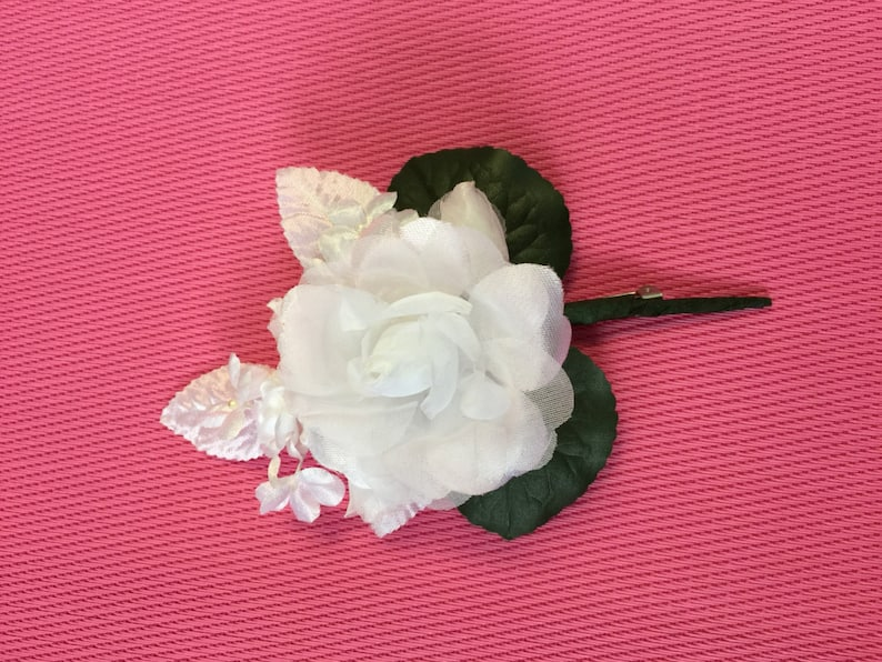 Groom BoutonniereCouture look Weddings Groomsman Flower image 0