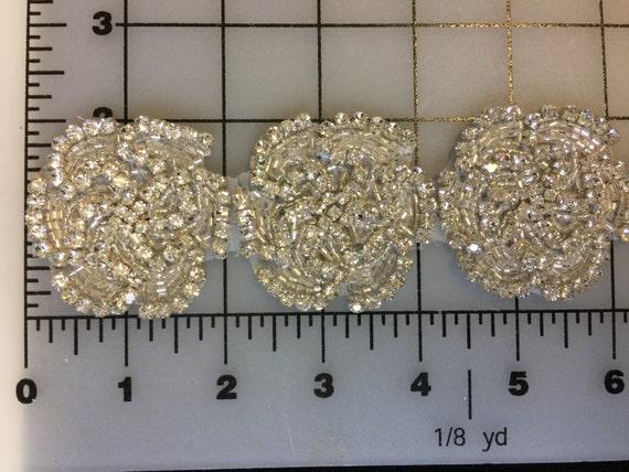 28 Inches Long Rhinestone Crystal AB. Motif, Jewel