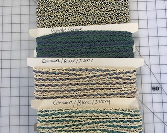 Vintage French Braid.Passementerie fringe. Sold by the yard. French Trims.