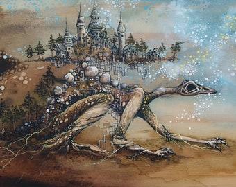 Fantasy Art Storm Monster