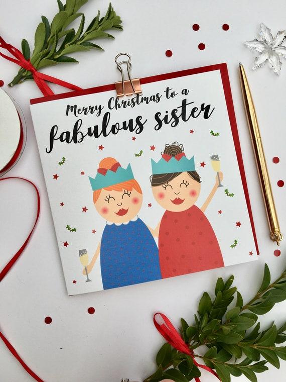 Merry Christmas Sister.Fabulous Sister Christmas Card Merry Christmas To A Fabulous Sister