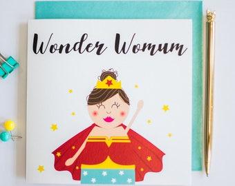 Wonder womum greeting card