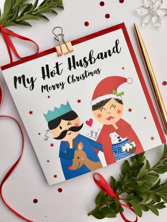 Husband Christmas Cards Uk.Husband Christmas Card My Hot Husband Merry Christmas
