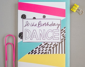 Do the birthday dance greeting card