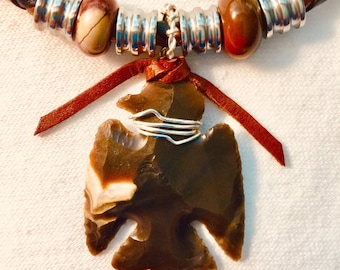 Sale HORSE ONYX+ARTISAN Carved+Black Beauty Stallion+2-Toned Leather Necklace+4 x 14mm Big Onyx Gems+4 Steel Tubes+Cherokee Designer