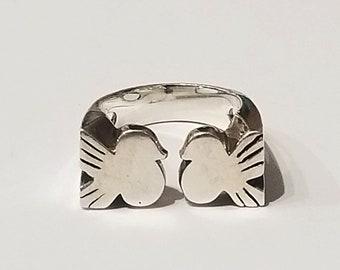Sterling Silver Lovebird Ring