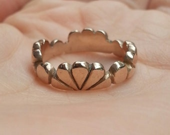 SALE! Handmade Delicate Bronze Petal Ring