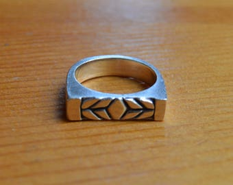 Flat-faced Sterling Silver Ring