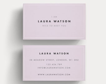 Unique calling card etsy premade business card template simple design customizable calling card modern elegant name card feminine business card unique design colourmoves