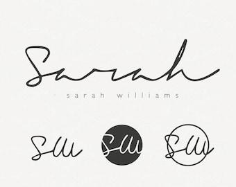 Elegant Logo, Script Signature Logo, Handmade Logo, Watermark logo, Black logo design, ooak Logo, Singature Logo, Name Logo, Font Logo