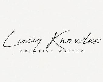 Signature Script logo, Pre-made Minimalistic brand, Minimal Logo, Signature Logo, Creative writer logo, Modern Logo, Handwritten Logo, Clean