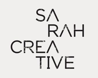 Modern font logo, grungy premade logo, simple logo design, Trendy logo template, black logo, rustic logo design, business original logo