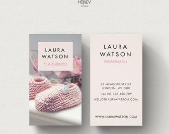 Nanny business card etsy portrait business card design babysitter business card premade calling card nanny business card creative contact card photo background reheart Choice Image