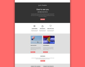 Mailchimp html template email newsletter clean design etsy email newsletter template responsive html email newsletter design email campaign mailchimp e newsletter instant download spiritdancerdesigns