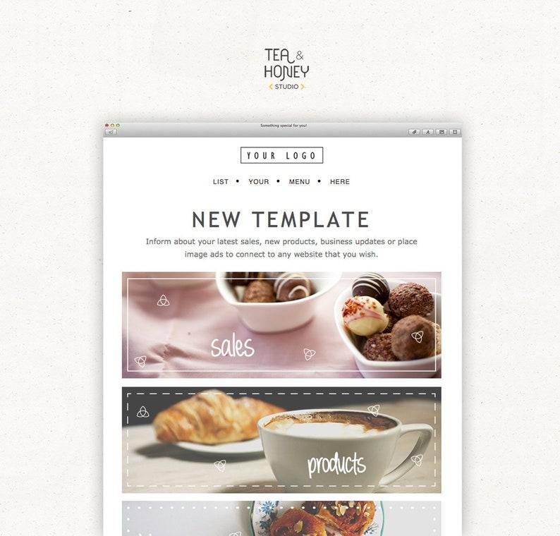 Mailchimp Email Newsletter Template Modern Design HTML image 0